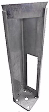 """Picture of Galvanized Post Mounts With Wedge 4"""" x 4"""" x 20"""" Long"""