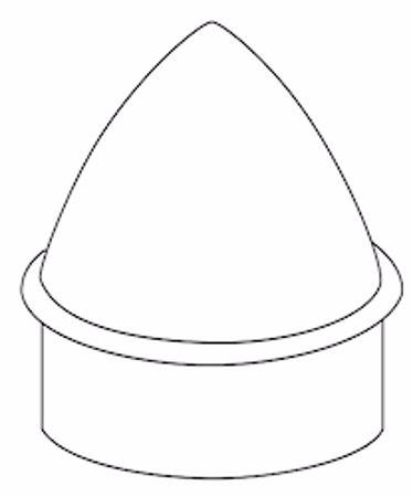 """Picture of 1 3/8"""" Aluminum Acorn Post Caps"""