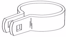"Picture of 2 1/2"" Beveled Brace Bands- Black"