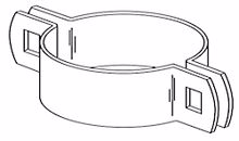 """Picture of 2 1/2"""" Beveled Two Way Brace Bands 180 deg."""