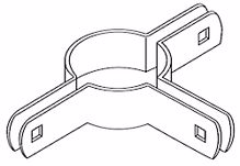 """Picture of 2 1/2"""" Beveled Three Way Brace Bands"""