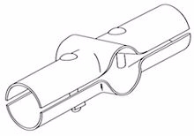 """Picture of 3 1/2"""" X 1 5/8"""" Line Rail Clamps - Case of 50"""