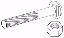 "Picture for category 3/8"" Carriage Bolts"