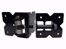 """Picture of 4"""" SS Commercial Hinge with Springs"""